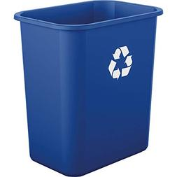 AmazonBasics 7 Gallon Commercial Waste Basket, Recycling, Bl