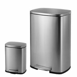 happimess Connor Rectangular 13-Gallon Trash Can with Soft-C