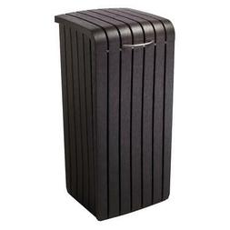 Keter Copenhagen 30-Gallon Wood Style Plastic Trash Bin Can,