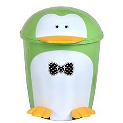 Battletter Creative Penguin Kitchen Step Trash Can