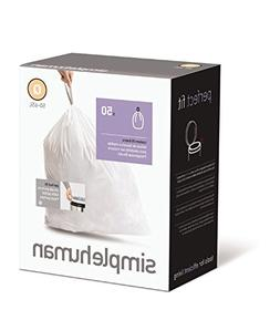 simplehuman Custom Fit Trash Can Liner Q, 50-65 L / 13-17 Ga