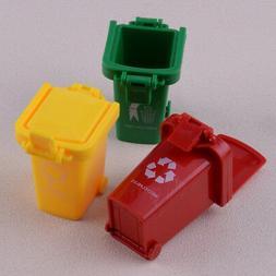 Cute Mini Trash Can Bin Toy Garbage Truck Trashcan for Kids