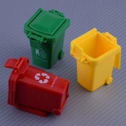 Cute Mini Trash Can Bin Toy Garbage Truck Curbside Trashcan