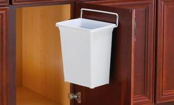 Knape Vogt D Plastic In Cabinet Door Mount Trash Can White D