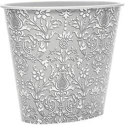 United Solutions Damask Bathroom Trash Can, Decorative Waste