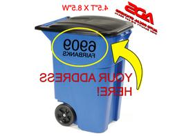 Decal Garbage Can Vinyl Custom Address Letter Trash Camping
