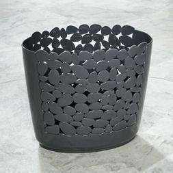mDesign Decorative Oval Trash Can Wastebasket, Garbage Conta