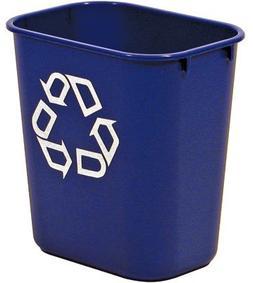 Large Deskside Blue Recycle Trash Cans   - AB-430-2957-73