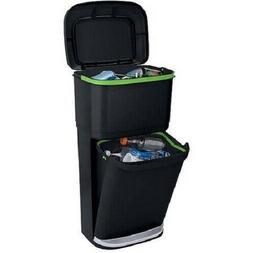 Double Decker Trash Can New Plastic 2-in-1 Recycling Modular