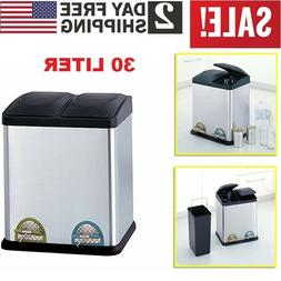Double Step On Stainless Steel Trash Can Kitchen Garbage Sor