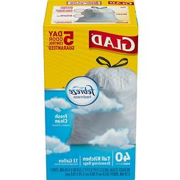 Drawstring Odorshield Tall Kitchen Bags, 13 Gal, 24 X 28, .9
