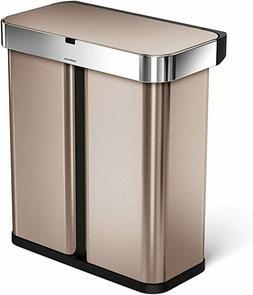 simplehuman® Dual Compartment Rectangular 58-Liter Step Tra