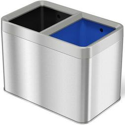 iTouchless Dual Compartment Slim Open Top Waste Bin for Tras