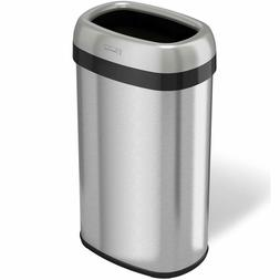 iTouchless Dual-Deodorizer Oval Open Top Trash Can and Recyc