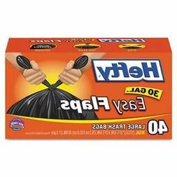 Hefty E50304 40 Count 30 Gallon Basics Trash Bags