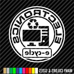 Electronics Recycling Decal Sticker e-cycle - Home & Office