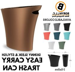 Elegant Sleek Bathroom Trash Can Kitchen Small Garbage Bin S