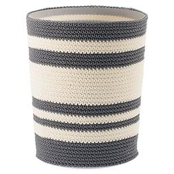 InterDesign Ellis Knitted Decorative Trash and  Waste Can, G