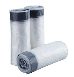 Feiupe 4 Gallon Clear Drawstring Trash Bag Garbage Can Liner