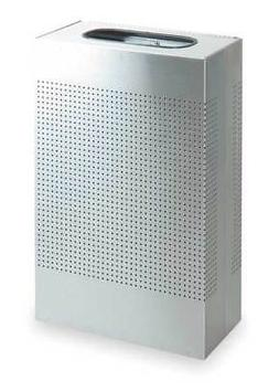 RUBBERMAID FGSR14SSPL 13 gal. Rectangular Fire-Resistant Tra