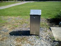 RUBBERMAID fire retardant Trash Can, Square,24 gal.,Silver,
