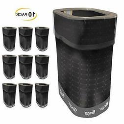Flings Bins POP UP All Occasion Black - 10 Pack