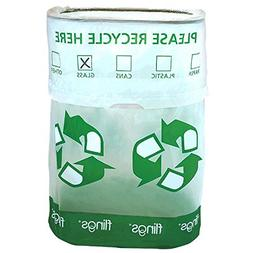 Amscan Flings Recycle Patented Pop-Up Trash Bin, 22 x 15 x 1