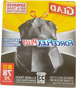 Glad ForceFlex Extra Large & Strong Trash Bags - 33 gal - 78
