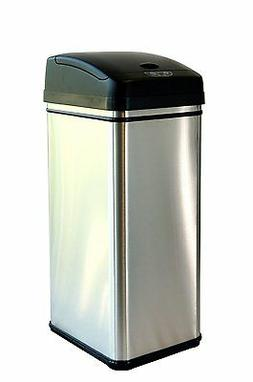 Free shipping hands free touchless trash can 13 gallon mx mo
