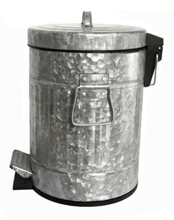 Autumn Alley Galvanized Pedal Waste Bin | 5L, 1.3 Gallon Tra