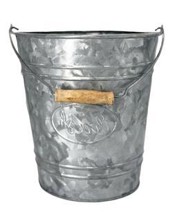 Autumn Alley Galvanized Trash Can   Small Bathroom Waste Bin