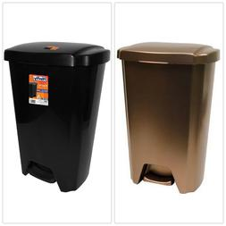 Garbage Bin Step-On Trash Can 13 Gallon Waste Basket Indoor