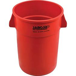 Global Industrial 44 Gallon Garbage Can, Red
