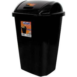 Garbage Can Kitchen Wastebasket With Swing Lid 13 Gallon Tra