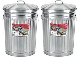 Garbage Steel Trash Can With Side Drop Handles - 20 Gallon