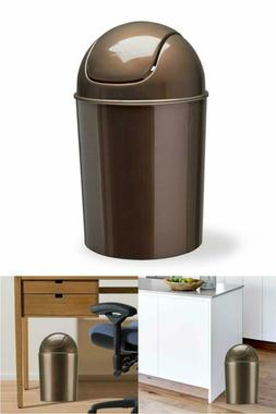 Garbage Trash Can For Bathroom Office & more 1 1/2 Gallon wi