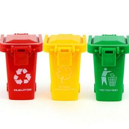 Garbage Truck 3 Trash Can Toy, Mini Curbside Vehicle For Kid