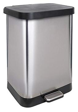 GLAD GLD-74506 Stainless Steel Step Trash Can with Clorox Od