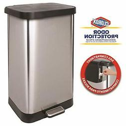 GLAD GLD-74507 Extra Capacity Stainless Steel Step Trash