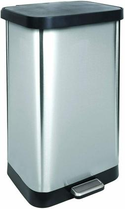 GLAD GLD- 74507 Extra Capacity Stainless Steel, Step Trash C