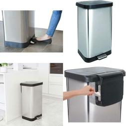 gld 74507 stainless steel step trash can