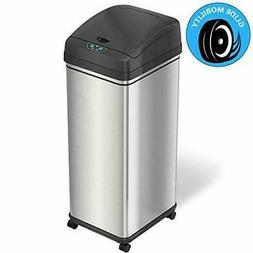 iTouchless Glide 13 Gallon Sensor Trash Stainless Steel With