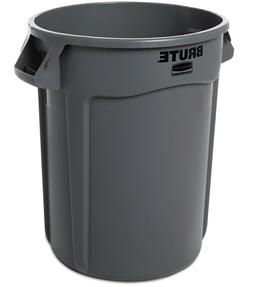 gray industrial commercial brute trash can garbage