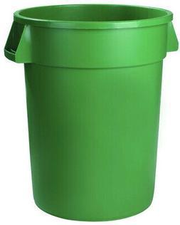 Green Round Trash Can Waste Storage Container 20 Gal. Indoor