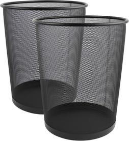 Greenco GRC2708 Round Mesh Wastebasket Trash Cans, 6 Gallon,