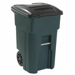Toter 48-Gallon Greenstone Plastic Wheeled Trash Can with Li