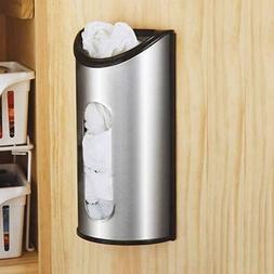 Grocery Bag Wall Mount Storage Dispenser Stainless Steel Tra