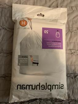 H Simplehuman Plastic Trash Can Liners H 8-9 Gallon 20 Pack