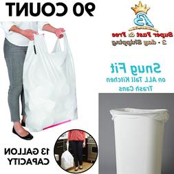 Handle Trash Bag 13 Gallon Tall Kitchen Can Liners With Powe