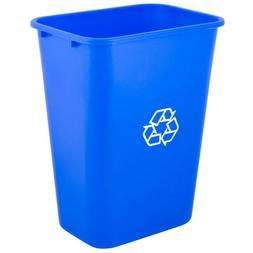 Heavy Duty Rectangular Plastic 10 Gallon Size Recycle Bin Wa